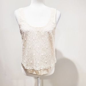 Pins and Needles Lace Tie Back Crop Top